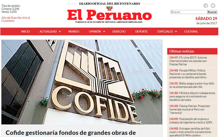 Portal Diario Oficial El Peruano