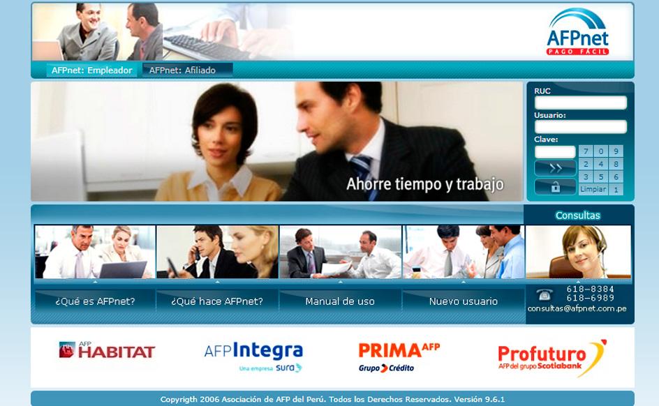 Portal AFP Net - Portal donde los empleadores pagan aportes y comisiones