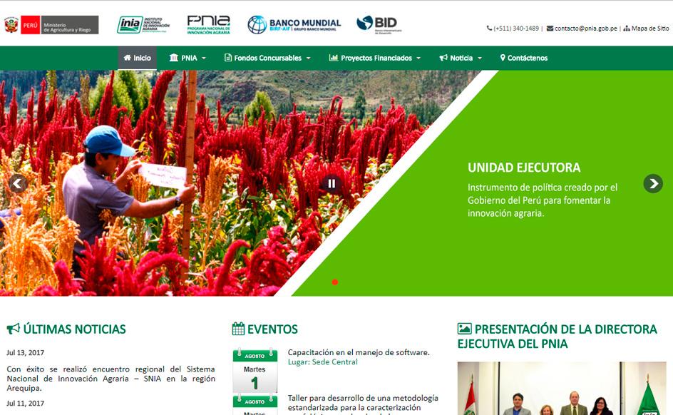 Portal del Programa Nacional de Innovación Agraria