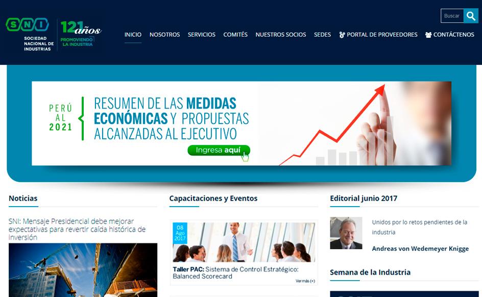 Portal de la Sociedad Nacional de Industrias